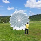 Wietrzenie zapasu, spadochron ratunkowy paralotniarza