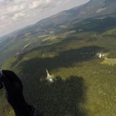 Szybowiec i antena na Cernej Horze