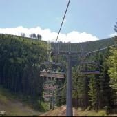 Latanie na Kamencu, Wjazd kolejką prawie na szczyt.