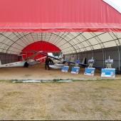 Gminny Piknik Lotniczy - wystawa szybowców i zdjęć lotniczych.