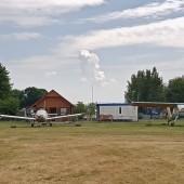 Towarzystwo Lotnicze Świebodzice kurs podstawowy 2018 dzień 10 ostatni., Termika jednak się obudziła, a mogła dzisiaj sobie zrobić wolne.