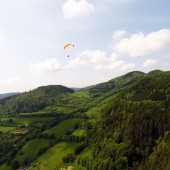 Grzmiąca Paraglideing Fly