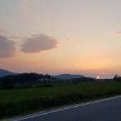 Klin Paragliding Fly, Zachód słońca na koniec latania.