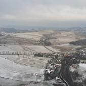 Zimowy Klin-Andrzejówka Paragliding Fly, Widok w kierunku Wałbrzycha