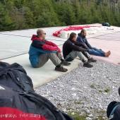Cerna Hora - Jarkowice Paragliding Fly, Startowisko w oczekiwaniu na zająca.