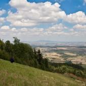 Widok ze startowiska na północ w stronę Bielawy.
