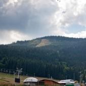 Widok na startowisko na Czarnej Górze
