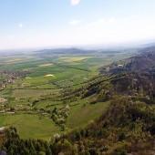Srebrna Góra widok w strone Paczkowa i Złotego Stoku