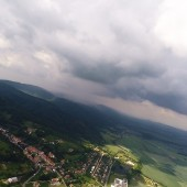 Paragliding Fly - ulewa nad Czeszką