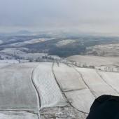 Zimowy Klin-Andrzejówka Paragliding Fly, Widok w kierunku Dzikowca