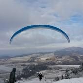 Zimowy Klin-Andrzejówka Paragliding Fly, Pierwsze starty