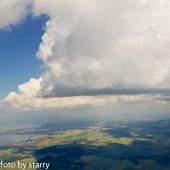 Cumulusy tego dnia były zacne, ale i sporo wiatru.