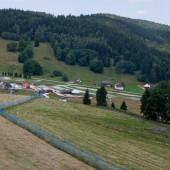 Czarna Góra - Stronie Śląskie lipiec 2014, Widok na lądowisko przy Puchaczówce.