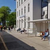 Wałbrzych - Szczawno, pięknie odnowiony budynek dworca.
