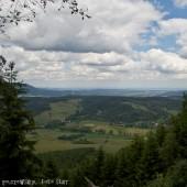 Widok na start z prawej strony szczytu.