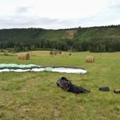 Paragliding Fly - Chełmsko Śląskie Róg, Lądowanie na Rogu
