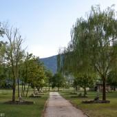 Camp Lijak tam na końcu ścieżki jest start.