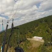 Cerna Hora Paragliding Fly, Startowisko na Cernej Horze od strony wschodniej.