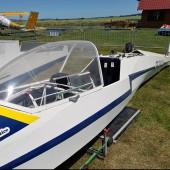Towarzystwo Lotnicze Świebodzice kurs podstawowy 2018 dzień 7, W przerwie technicznej pomagaliśmy rozmontować taki o to latający szybowiec, sprzedany za 10 kzł