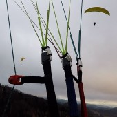 Kudowa Paragliding FLy, Grudniowe latanie ... do zmroku.
