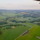Towarzystwo Lotnicze Świebodzice kurs podstawowy 2018 dzień 6, Samotne dwa wiatraki.
