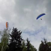 Mieroszów, paragiding, Latanie w Mieroszowie