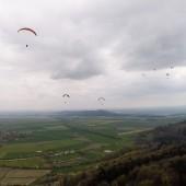 Srebrna Góra Paragliding Fly, Srebrna była dość mocno zasłonięta chmurami.
