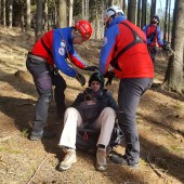 Mieroszów Paragliding Zonk, Na początek sezonu, ćwiczenia z GOPR'em
