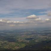 Mieroszów - Śmiałowice Paragliding Fly, Po lewej góra Chełmiec.