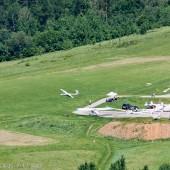 Widok z Jaworzynki na lotnisko