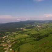 Grzmiąca Paraglideing Fly, Widok na Głuszycę.