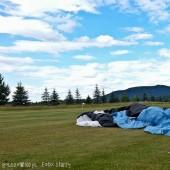 Rudnik Paragliding Fly, Lądowanie za Świdnicą na polu golfowym - bajka.