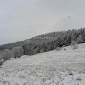 Zimowy Klin-Andrzejówka Paragliding Fly, Ci którzy jeszcze nie zamarzli jeszcze latają.