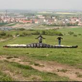 Bielawa - Łysajka, Widok z pozycji startowej na kierunek - N ( północny )