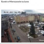 Mieroszów Rynek, Kamera on-line na rynku w Mieroszowie