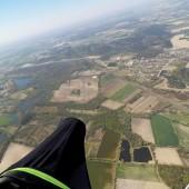 Borowa Paragliding Fly, Latanie swobodne paralotnią, start za wyciągarką.