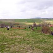 Andrzejówka - Klin 2014-04-06, Łączka na przedpolu. Niestety krowy trochę ozdabiają zieleń trawy.