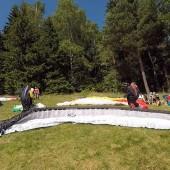 Monte Mieroszów - Paragliding Fly, II tura czeka na start.