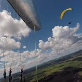 Kudowa - Radków Paragliding Fly, Nad pagórem w Czermnej.