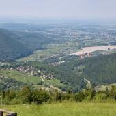 Góra Żar widoki przepiękne.