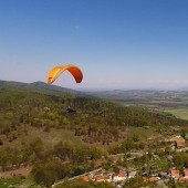 Srebrna Góra i paralotnie.