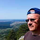 Lijak - drugi lotny dzień., Nova Gorica jak na dłoni.