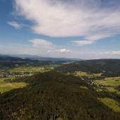 Mieroszów - Paraglidnig Fly, Widok od strony Szpiczaka w stronę startu.