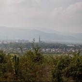 Widok ze stoku na lewą stronę - panorama Bielawy