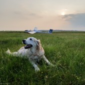 Towarzystwo Lotnicze Świebodzice kurs podstawowy 2018 dzień 5, Luna na kwadracie ;) Zaczynamy z Puchatkiem, ale zakończymy z Bocianem.