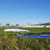 Srebrna Góra Paragliding Fly, Lądowanie na wlocie do Barda.