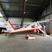 Po lotach na EPJG mamy chwilę na zwiedzanie hangaru.