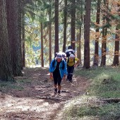 Cerna Hora Paragliding, Ścieżką przez las ...