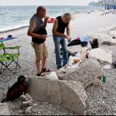 Sistiana - kolacja na plaży.